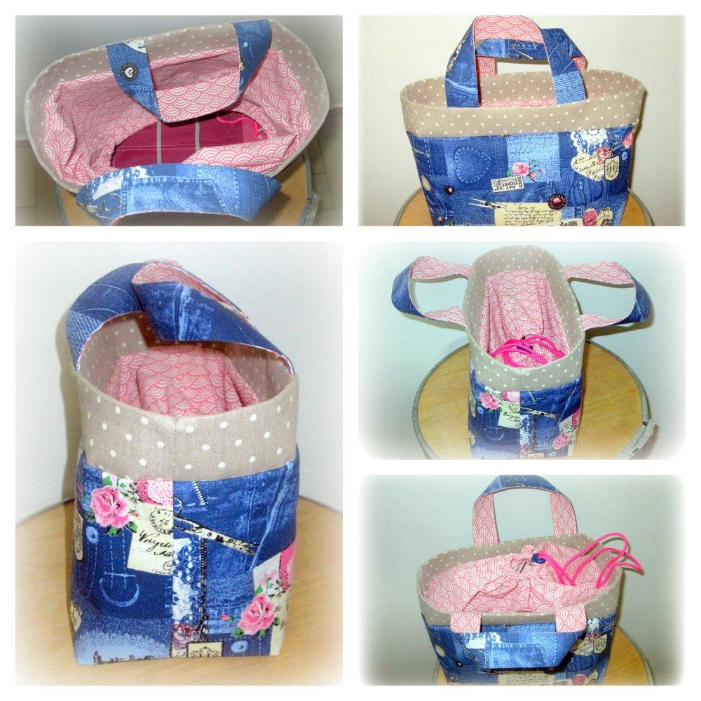 sac panier repas , lunch bag , personnalisable , original, fait main
