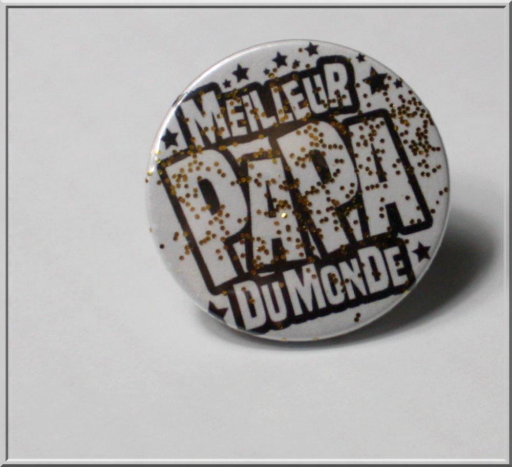 Badge : Meilleur papa du monde
