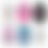 Nana qui déchire ☆ 45 images digitales rondes 30 25 et 20 mm nana fille femme