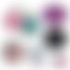 La plus chouette des mamies ☆ 45 images digitales numériques rondes 30 25 et 20 mm page de collage digital pour cabochons