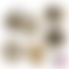 Spécial mamie ☆ 60 images digitales numériques rondes 25 et 20 mm et ovales 18*25 et 13*18 mm page de collage digital pour cabochons