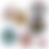 Bonne fête mamie 4 ☆ 45 images digitales numériques rondes 30 25 et 20 mm page de collage digital pour cabochons