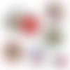 Bonne fête mamie ☆ 45 images digitales numériques rondes 30 25 et 20 mm page de collage digital pour cabochons