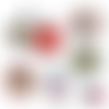 Bonne fête mamie ☆ 60 images digitales numériques rondes 25 et 20 mm et ovales 18*25 et 13*18 mm page de collage cabochon