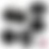 Chat noir ☆ 60 images digitales numériques rondes 25 et 20 mm et ovales 18*25 et 13*18 mm page de collage cabochon