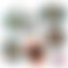A personnaliser diy ☆ 45 images digitales numériques rondes 30 25 et 20 mm page de collage digital pour cabochons