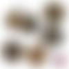 Chat noir art déco gold ☆ 45 images digitales numériques rondes 30 25 et 20 mm page de collage digital pour cabochons
