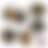Chat noir art déco gold ☆ 60 images digitales numériques rondes 25 et 20 mm et ovales 18*25 et 13*18 mm page de collage cabochon