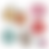 Japon ☆ 45 images digitales numériques rondes 30 25 et 20 mm page de collage digital pour cabochons