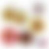 Chocolat ☆ 45 images digitales numériques rondes 30 25 et 20 mm page de collage digital pour cabochons