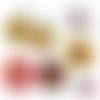 Chocolat ☆ 60 images digitales numériques rondes 25 et 20 mm et ovales 18*25 et 13*18 mm page de collage digital pour cabochons