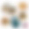 Météo ☆ 60 images digitales numériques rondes 25 et 20 mm et ovales 18*25 et 13*18 mm page de collage cabochon