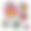 Maîtresse héroïne de l'année  ☆ 45 images digitales numériques rondes 30 25 et 20 mm page de collage digital pour cabochons
