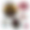Maître héros de l'année  ☆ 60 images pour cabochon rond et ovale ø 25 20mm et 18*25 et 13*18mm page de collage digital pour cabochons
