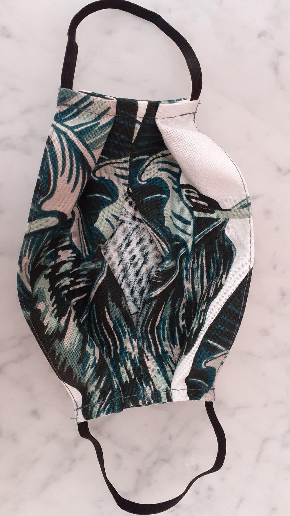 """Masque en tissu- modèle adulte """" jungle- camouflage"""""""