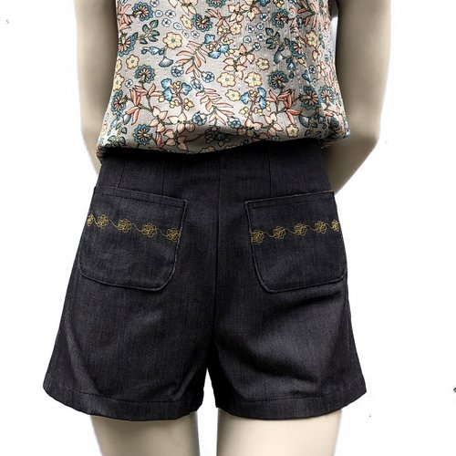 Short jeans noir