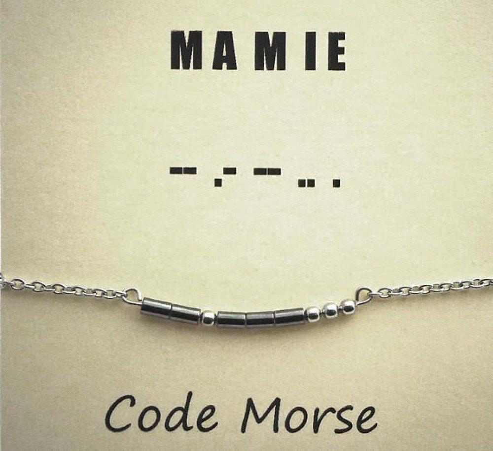 Bracelet code Morse MAMIE
