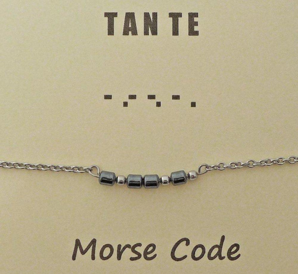 Bracelet code Morse TANTE