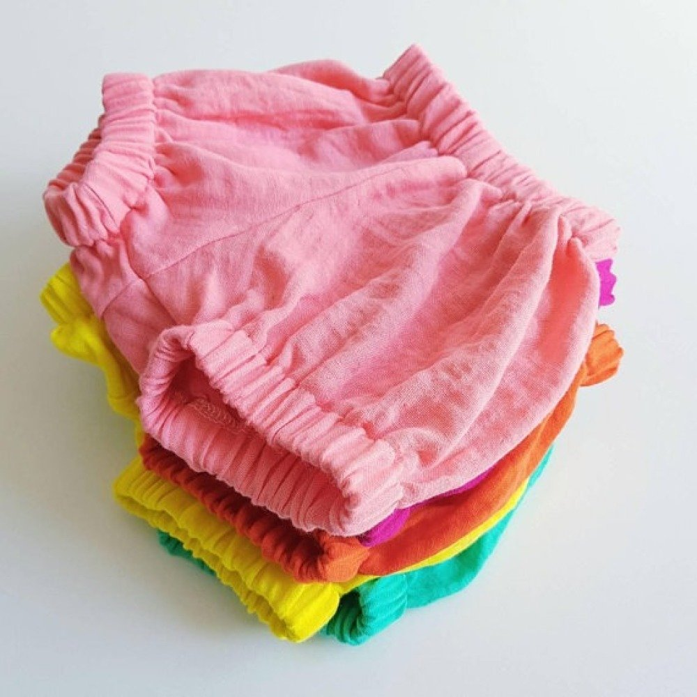 Bloomer bébé ou enfant - FRAMBOISE - Gaze Coton Biologique - Bebe bio