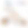 Coffret trio attache-tétine bois/ anneau de dentition / attache-sucette / attache tetine personnalisé / prénom/ jouet  à suspendre