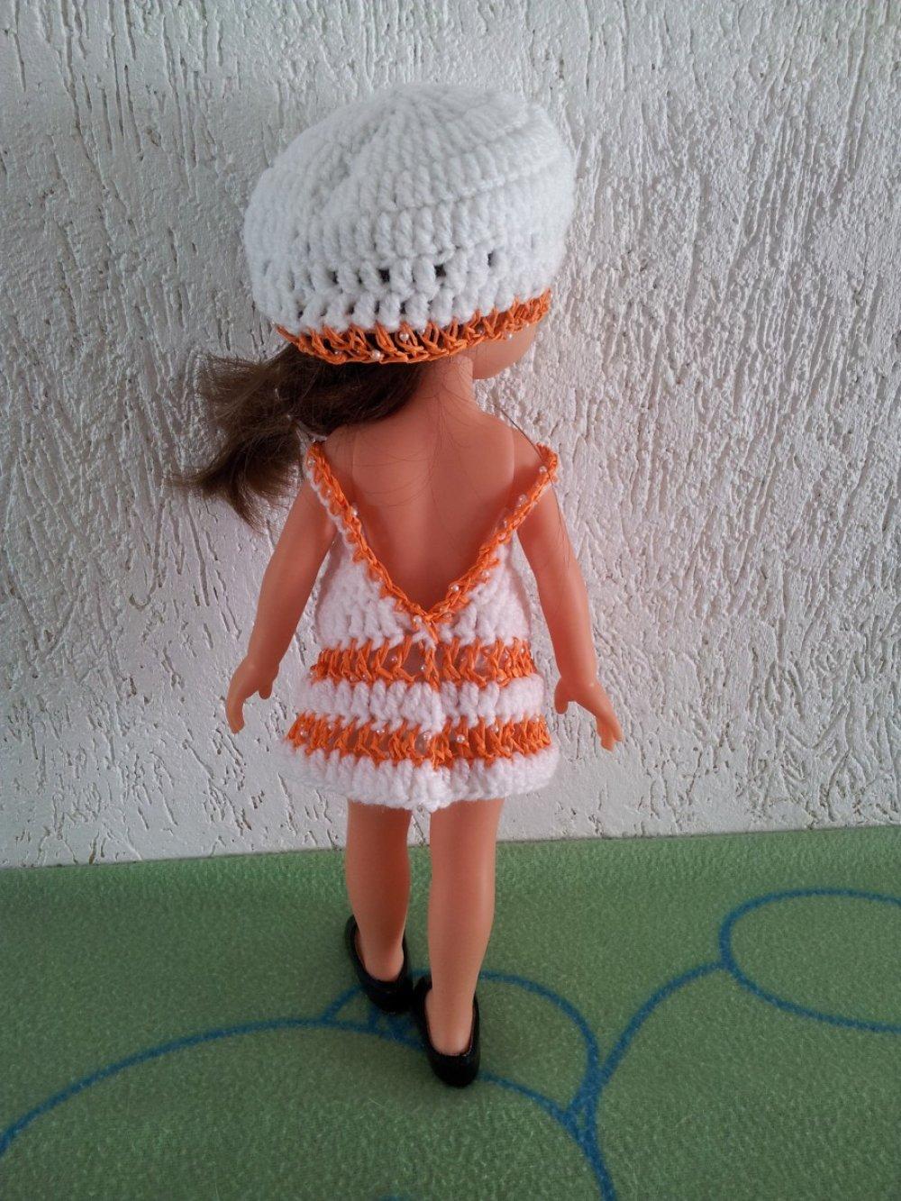 Robe et bonnet pour poupée Chérie de Corolle 32/34cm
