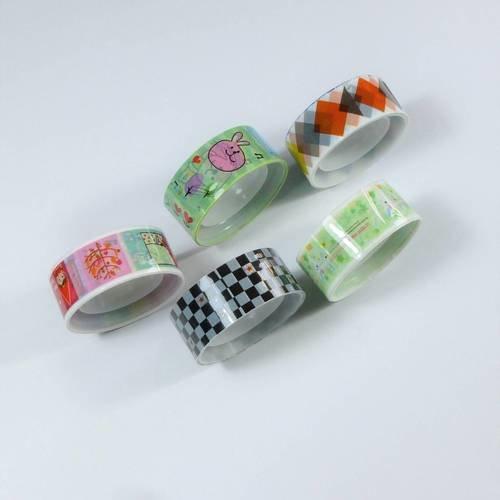 5 rouleaux de ruban adhésif masking tape 15mm