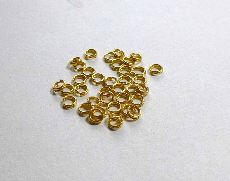50 anneaux 5mm de jonction doré double