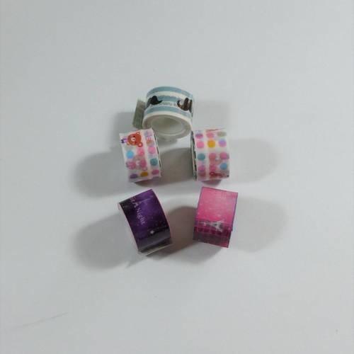5 rouleaux de ruban adhésif masking tape 12mm