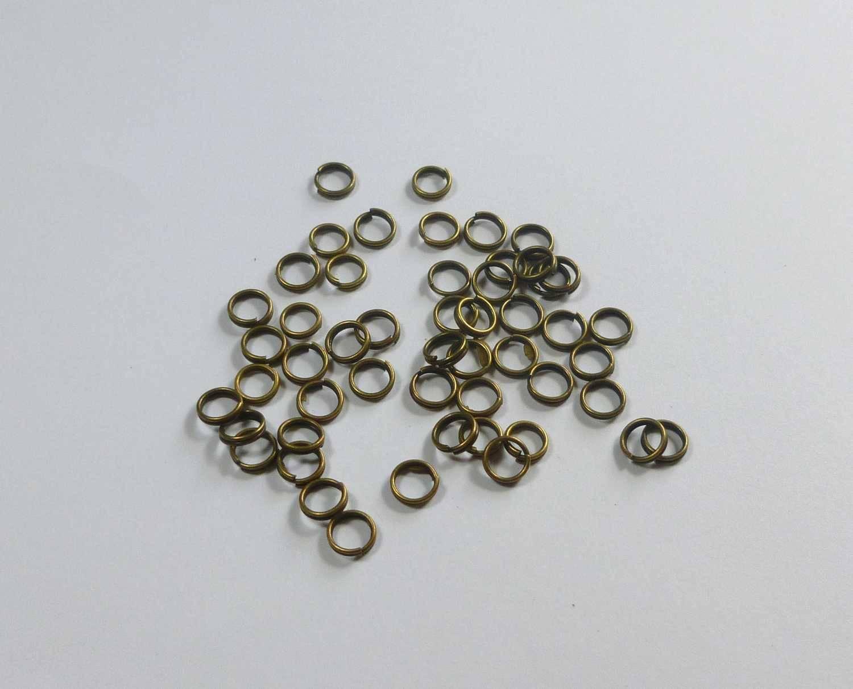 Anneaux de Jonction Doubles 4mm en métal argenté ou bronze