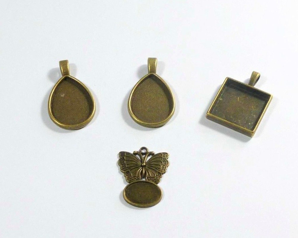 4 Supports cabochons pendentifs