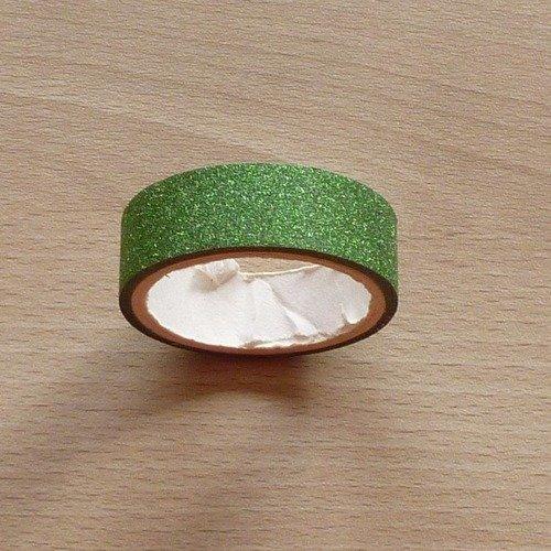 Ruban adhésif masking tape pailleté vert foncé