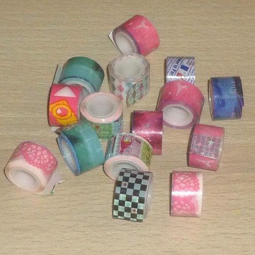"15 rubans adhésifs ""masking tape"" 12mm"