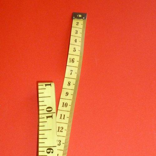 Mètre ruban jaune 150cm