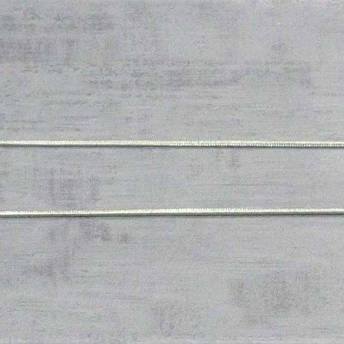 4m de chaîne serpent argenté 1mm