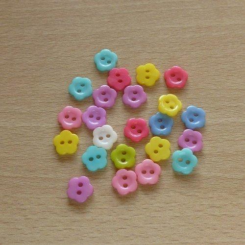 23 boutons forme fleur 10mm