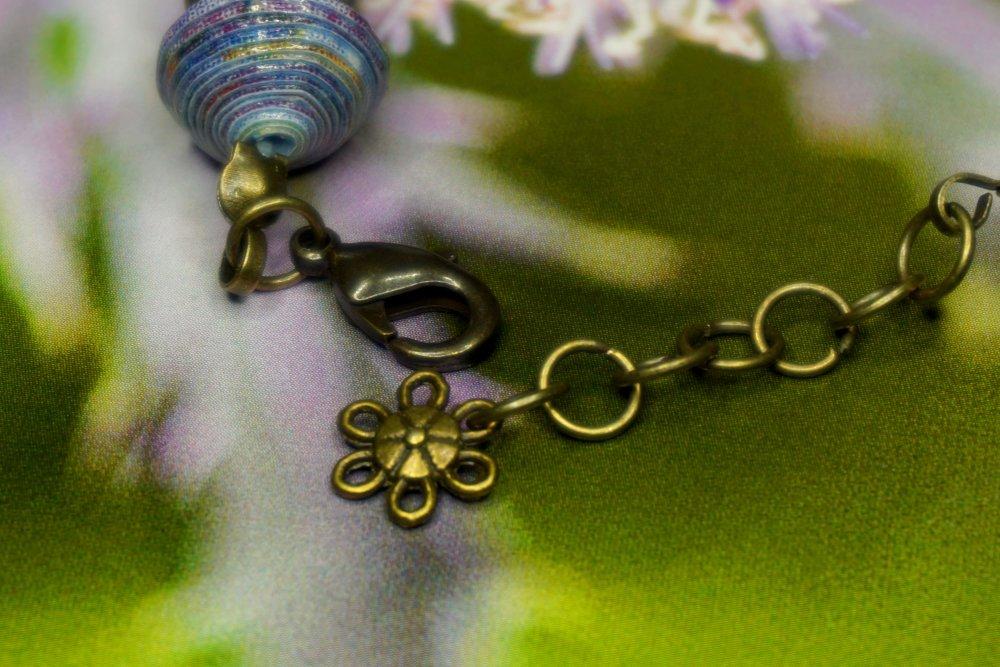 Bracelet,Perles de Papier,Création Artisanale,Modèle Unique.