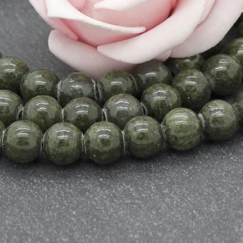 50 Perles de bohème 8 mm effet caoutchouté Vert /& Jaune