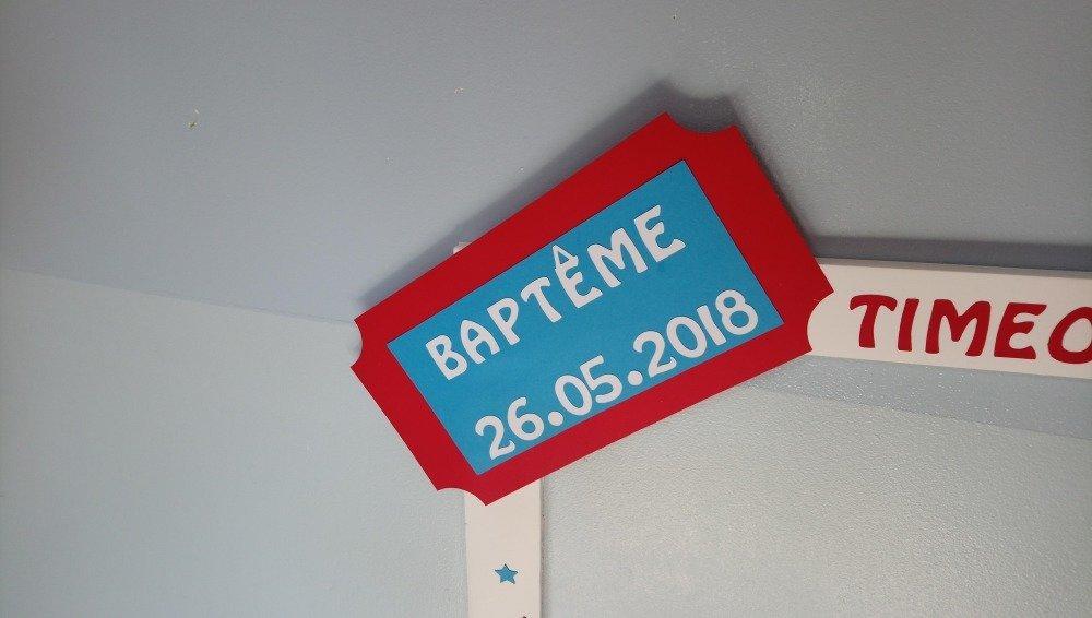 Cadre photobooth personnalisé fête foraines pour baptême mariage anniversaire, turquoise rouge et blanc