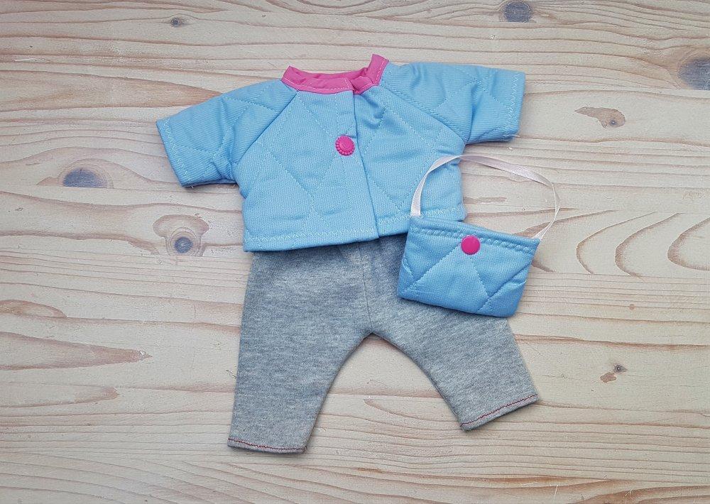 vêtements, habits, pour poupée 36 cm,Corolle, pantalon, veste, sac