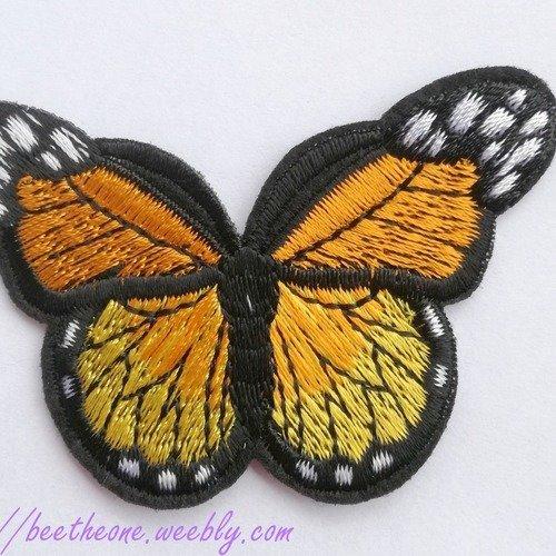 écusson patch bambi papillon 11cm