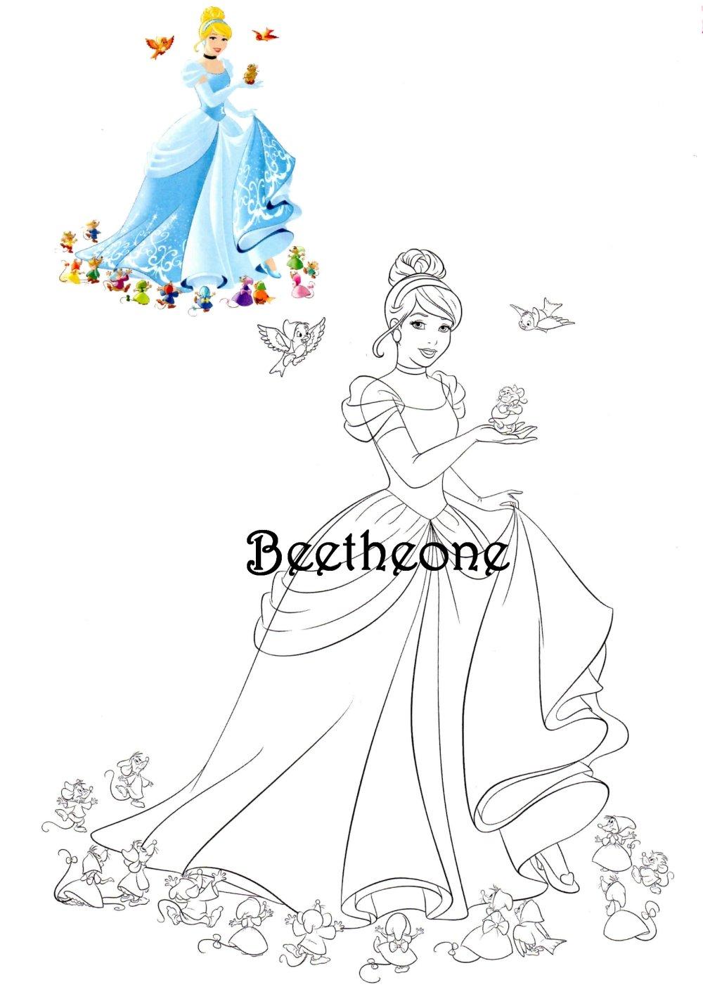 Images Digitales A Colorier Set De 32 Images A4 Disney Princesses Coloriages A Telecharger Et Imprimer Pour Anniversaires Un Grand Marche
