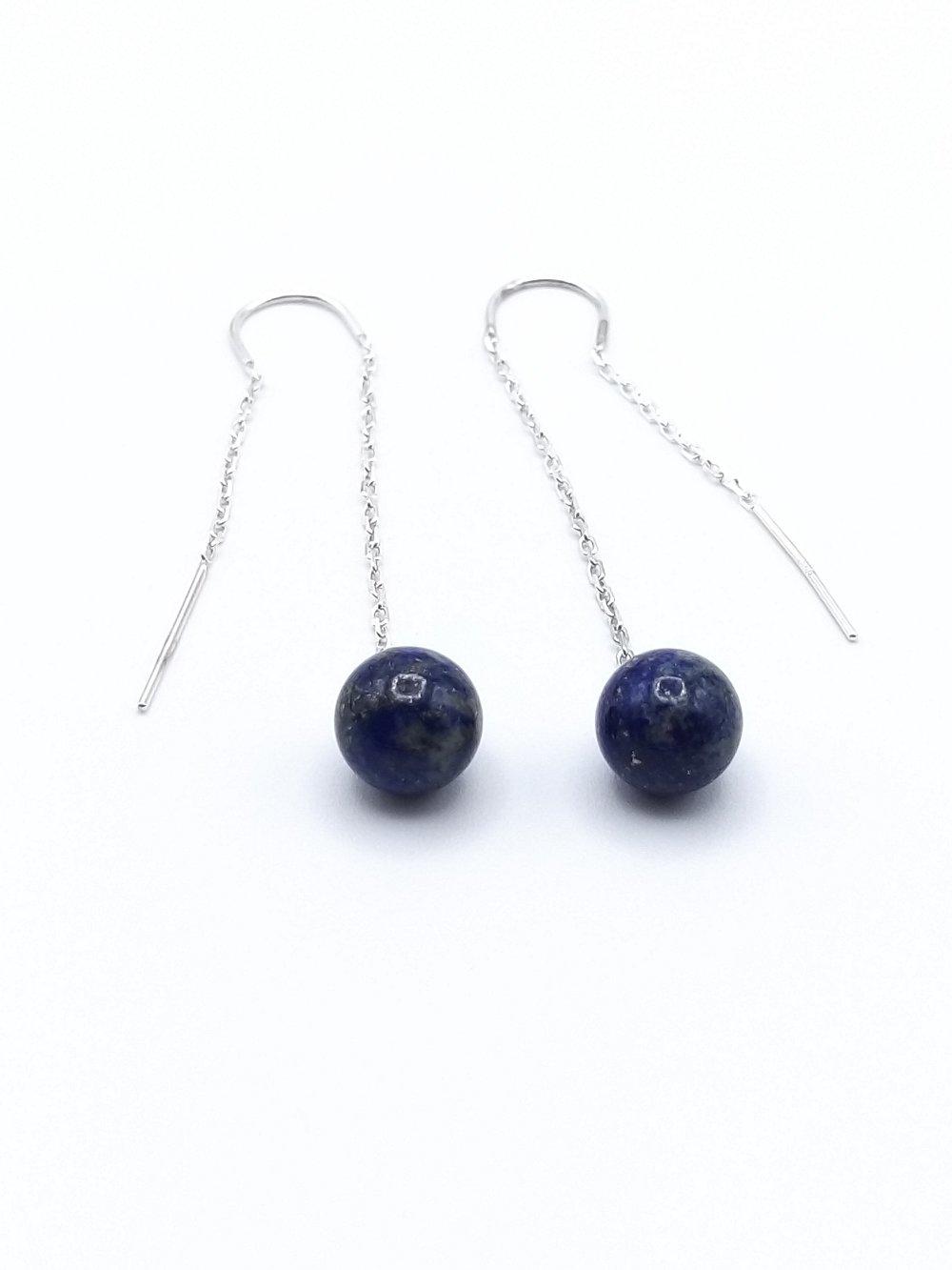 Chainette d'oreilles Lapis Lazuli