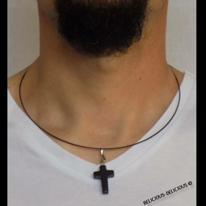 collier homme 45 cm