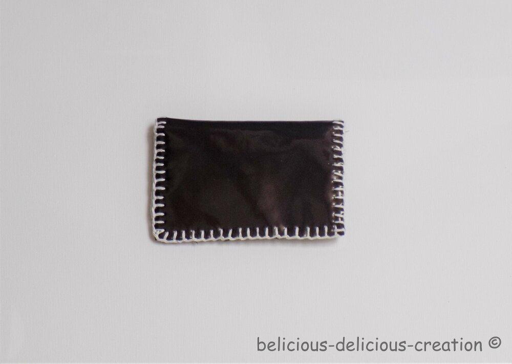 Original Porte Monnaie  !! M IS FOR !! en Simili Cuir Noir et Blanc Taille:12cm x 8cm Belicious-Delicious-Creation