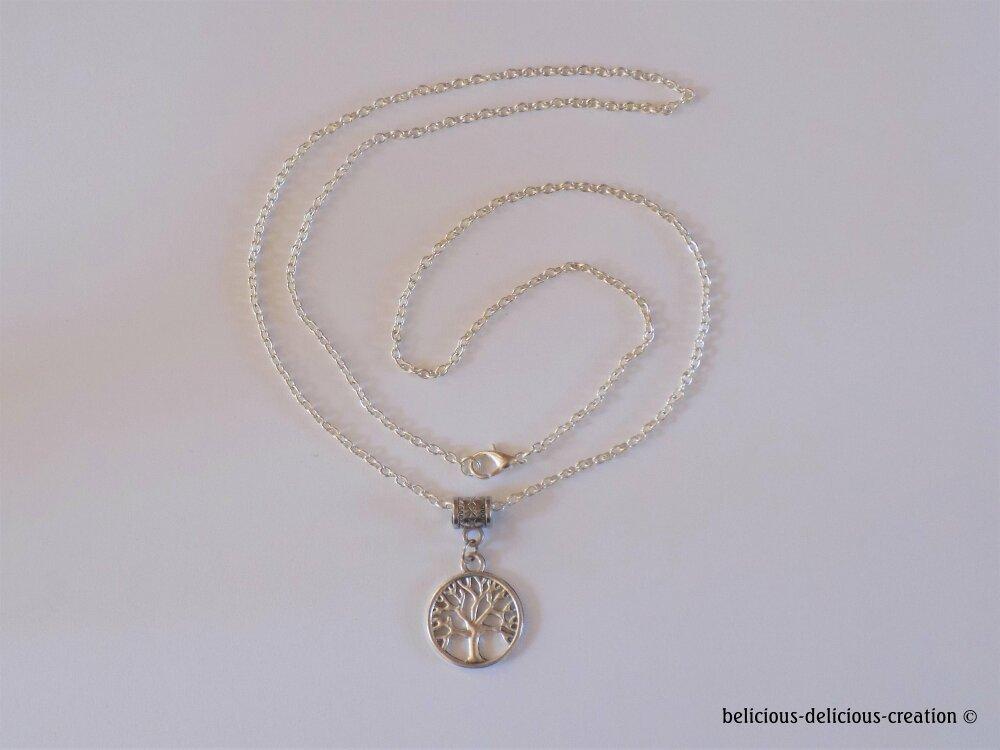 Original Collier Homme !! TREE OF LIFE !! Chain en metal argente collier long 62cm  belicious-delicious-creation