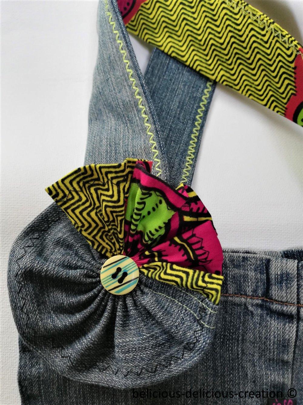 Original Sac a Main '' WAXFLOWER '' en coton Jean Bleu,With front pockets Sac dimensions :T: 25.5cm x 22.5cm x 9.5cm belicious-delicious