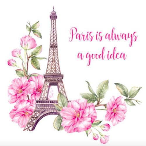 Thermocollant pour textile paris tour eiffel et fleurs