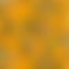 Viscose javanaise jaune, fleurs bleues