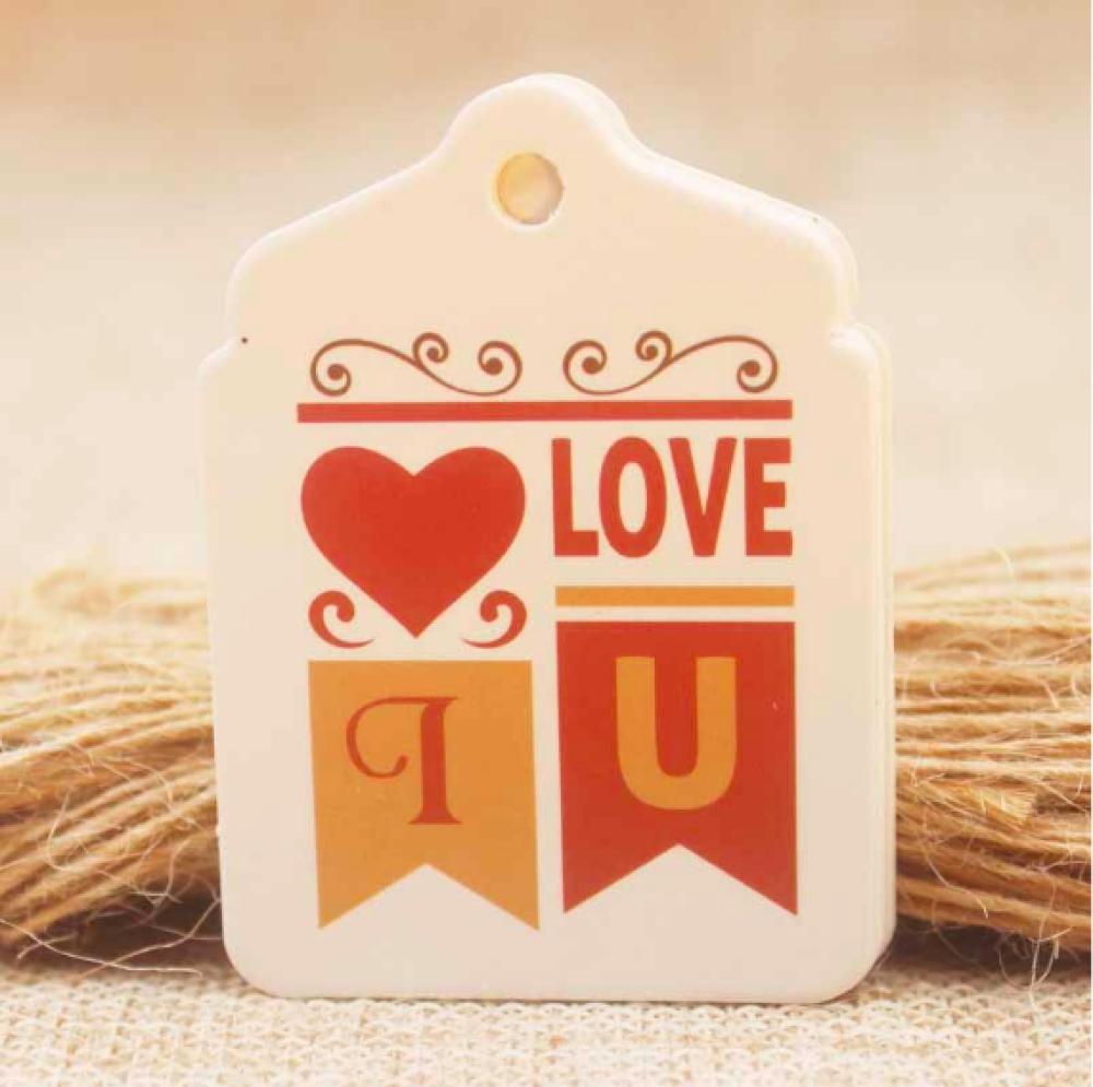 Decoration De Paquets Cadeaux 10 tags i love you, avec ficelles pour décoration de paquets cadeau