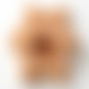 Hochet de dentition en bois, forme etoile